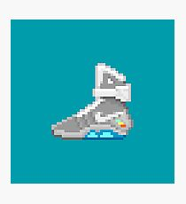 Self-lacing Shoe Back from the Future 8-Bit Pixel Art Photographic Print
