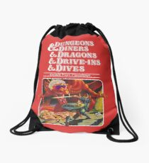 Dungeons & Diners & Dragons & Drive-Ins & Dives: Escape from Flavortown Drawstring Bag