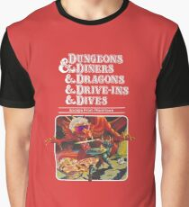 Dungeons & Diners & Dragons & Drive-Ins & Dives: Escape from Flavortown Graphic T-Shirt