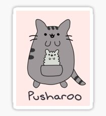 Pusharoo - Pusheen + Kangaroo! (Unofficial) Sticker