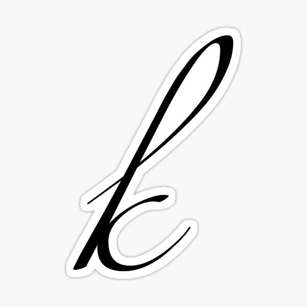 Monogram Lower Case- K Sticker