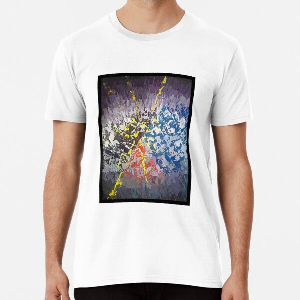 Abstrait coloré T-shirt premium