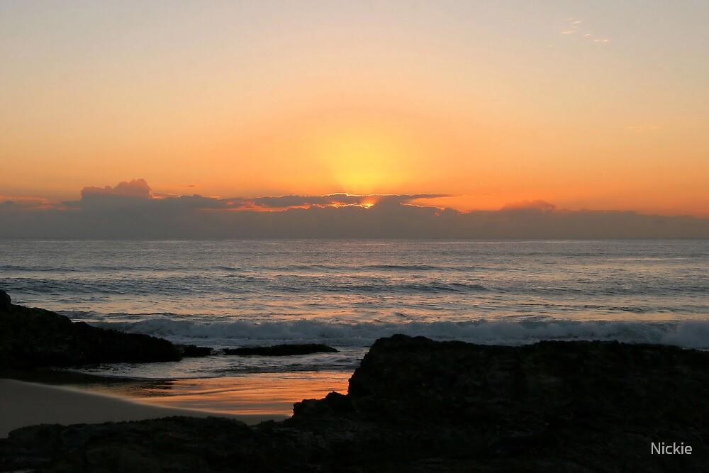 Currumbin Beach Sunrise by Nickie