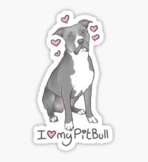 Pitbull (female) Sticker