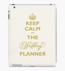 Bleib 'ruhig, ich bin der Hochzeitsplaner | Gold auf Elfenbein Hintergrund iPad-Hülle & Skin