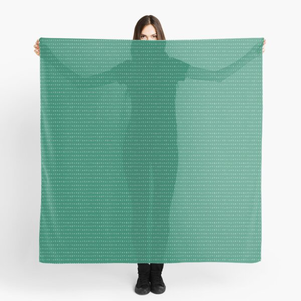 IPA scarf - teal and white Scarf