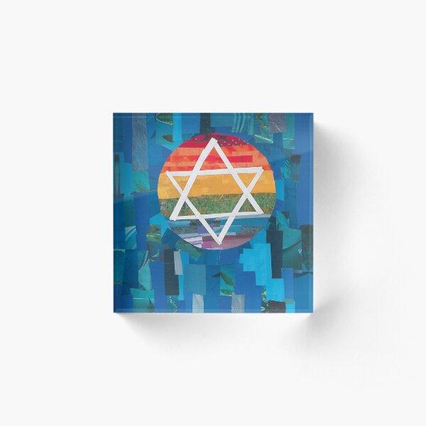 Jewish Pride Acrylic Block