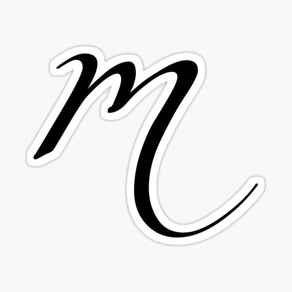 Monogram Lower Case- M Sticker