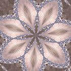 Diamond and Pearl Fractal Flower Mandala Kaleidoscope 1 by Artist4God