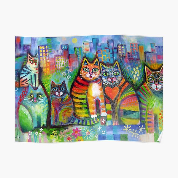 Urban Cats Poster