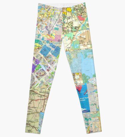 Directory Maps Leggings