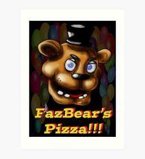 Fazbears Pizzaria Art Print