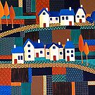 Tiny Town on the Patchwork Hill by Lisafrancesjudd