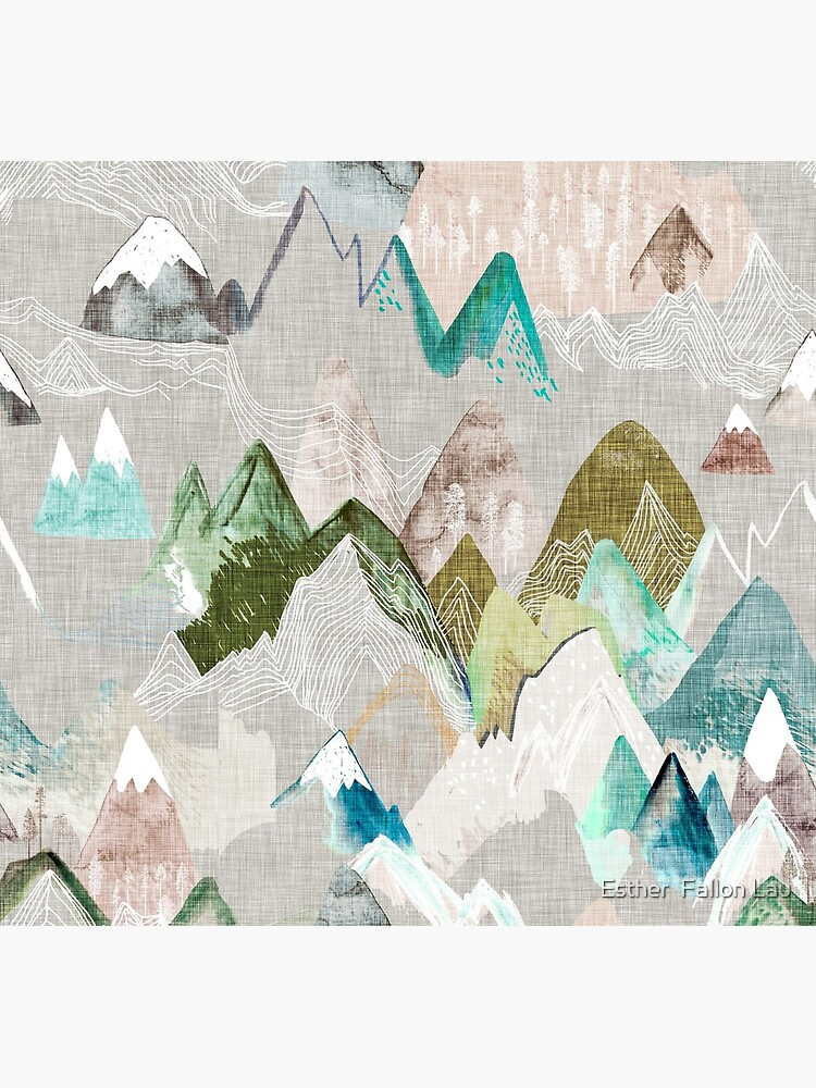Call of the Mountains (in misty)  by nouveaubohemian