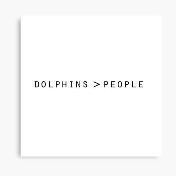 dolphins > people Canvas Print