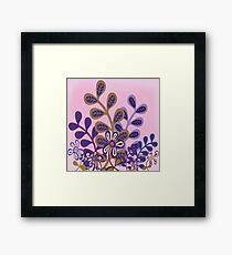 Plum Foliage Framed Print