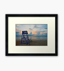 Blues On North Beach Framed Print