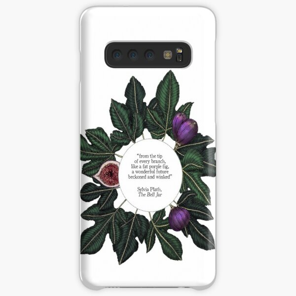 Fig Quote Print - The Bell Jar - Sylvia Plath Samsung Galaxy Snap Case