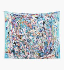 Blue Composition Wall Tapestry