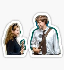 jim and pam halloween Sticker