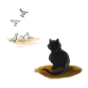 Cat and pigeons  by rodoart