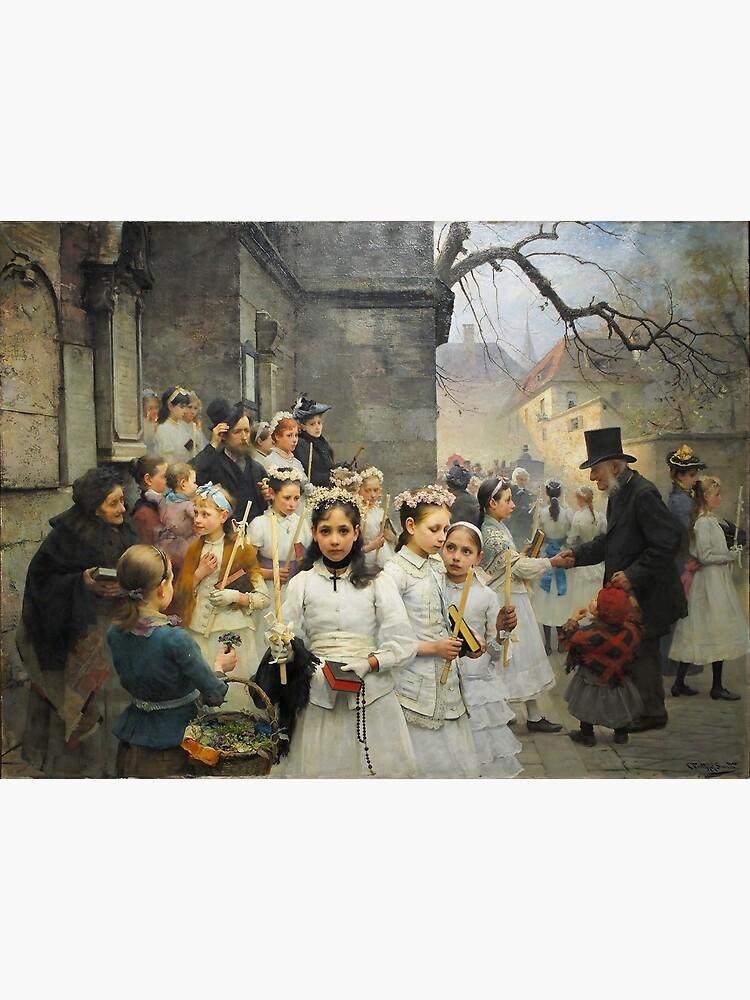 After First Communion by Carl Frithjof Smith (1892) by allhistory