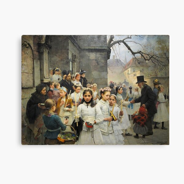 After First Communion by Carl Frithjof Smith (1892) Canvas Print