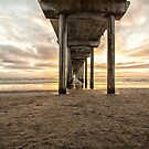 Pier and clouds by Ruth  Jolly
