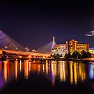 Moon light over Zakim bridge by LudaNayvelt