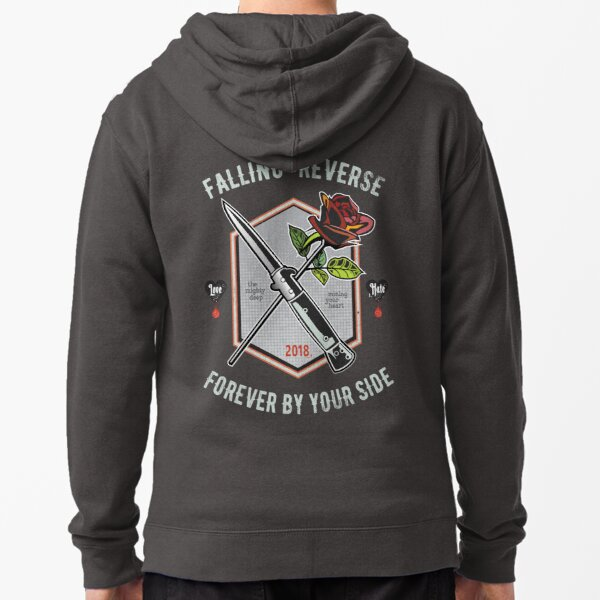 Falling in Reverse   Forever by your Side Zipped Hoodie