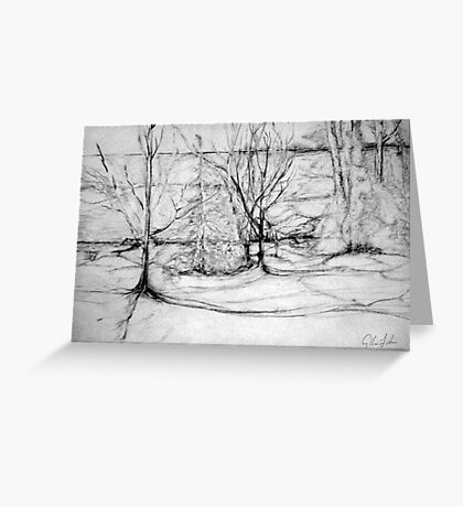 Trees on the Bluff Greeting Card