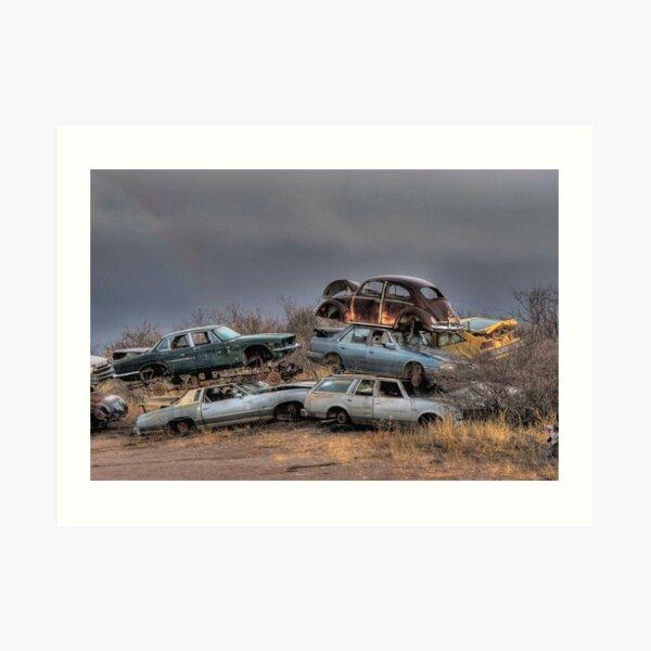 Junkyard Art Print