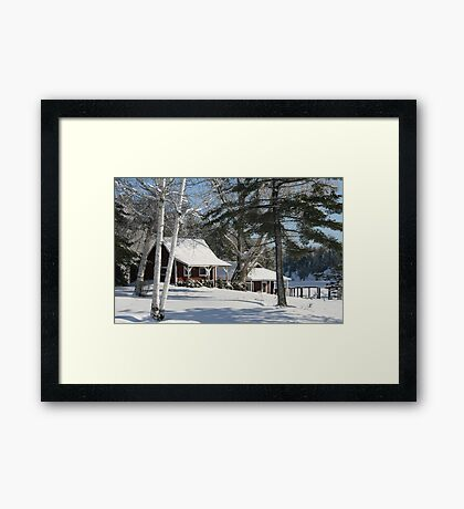 Moose Lake Cabins Framed Print