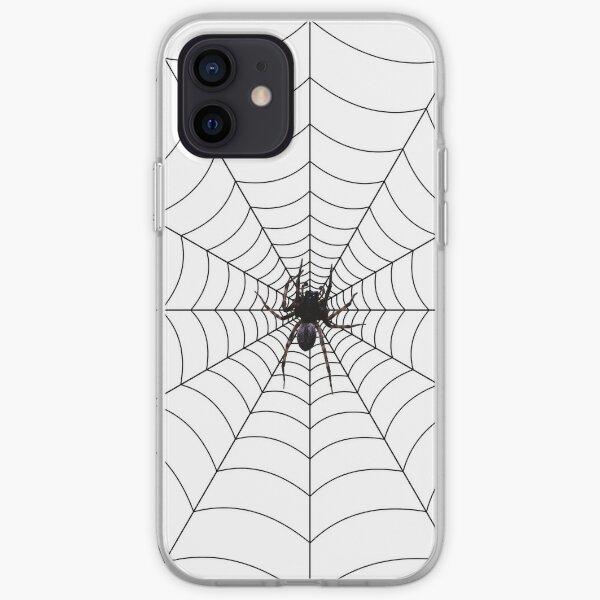 Spider web, spider, web, паутина, web, cobweb, net, tissue, spider's web, spinner, caterpillar iPhone Soft Case