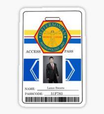 BONES Access Card - Lance Sweets Sticker