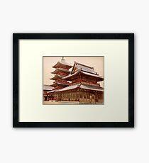 Shitennoji buddhist temple, Osaka, Japan Framed Print