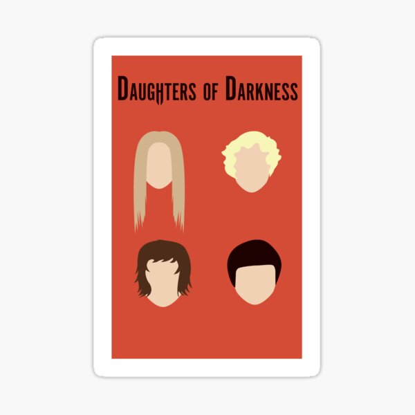 Daughters of Darkness Minimalist Poster Sticker