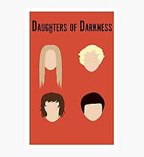 Daughters of Darkness Minimalist Poster Photographic Print