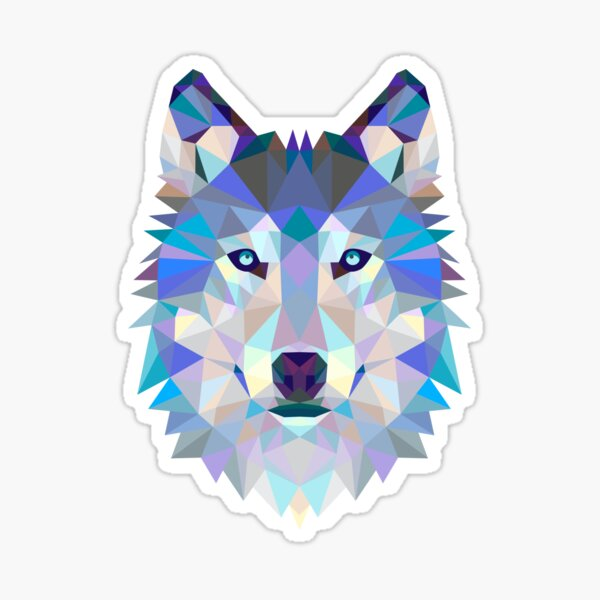 Wolf Polygon Graphic Sticker