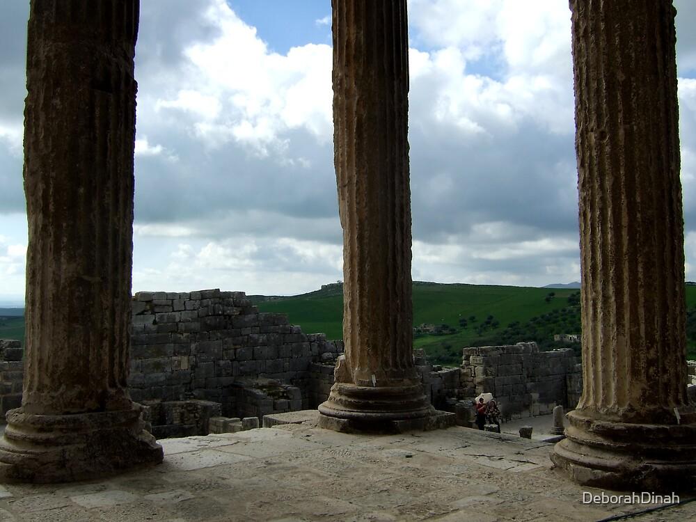 Three Roman Columns by DeborahDinah
