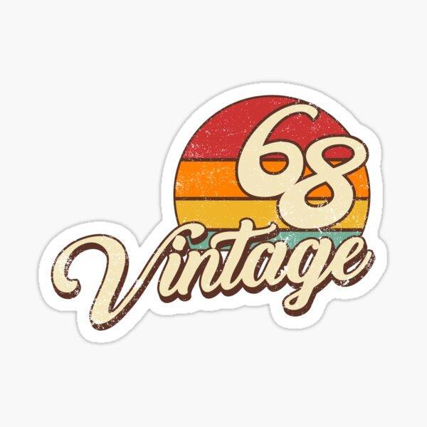 Vintage 1968 50th Birthday  Sticker