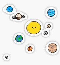 Nettes Sonnensystem Sticker