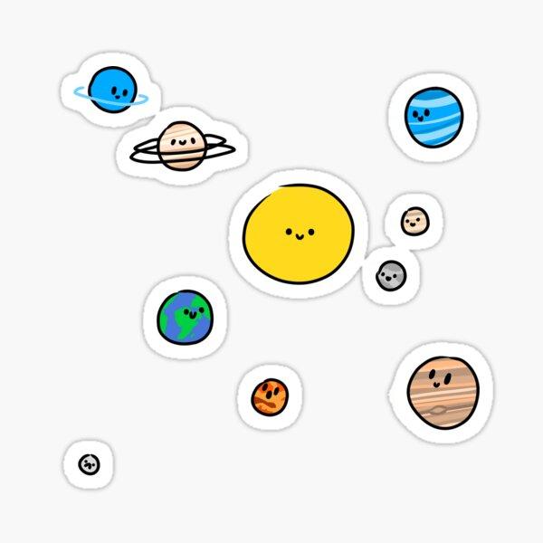 Cute Solar System Sticker