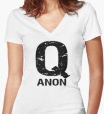 QAnon Freedom Movement Women's Fitted V-Neck T-Shirt