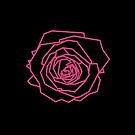 Geometric Pink Rose by Rocket-To-Pluto
