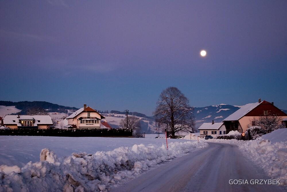dusk in the Alps- Swiss by GOSIA GRZYBEK