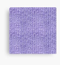 Knitted Wool lilac Canvas Print