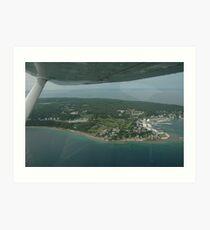 flight over mackinac island Art Print