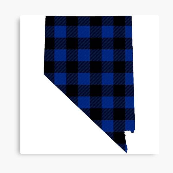 Blue Plaid Nevada Canvas Print