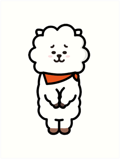 Quot Bts Bt21 Rj Jin Quot Art Prints By Red One48 Redbubble